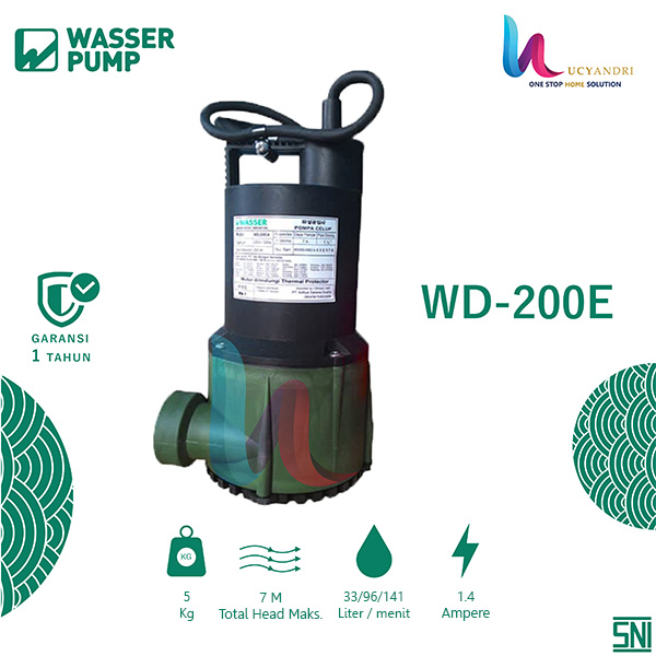 Pompa Celup Wasser Air Bersih | Submersible Pump WD 200 E ...