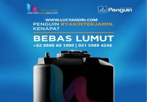 tangki air penguin bebas lumut
